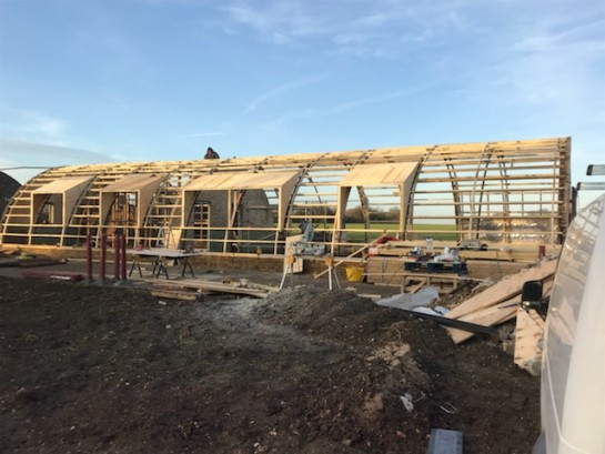 Nissen Huts to Dwelling Work in progress